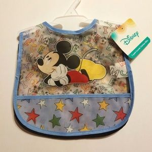 DISNEY 2 PACK CRUMB CATCHER BIBS
